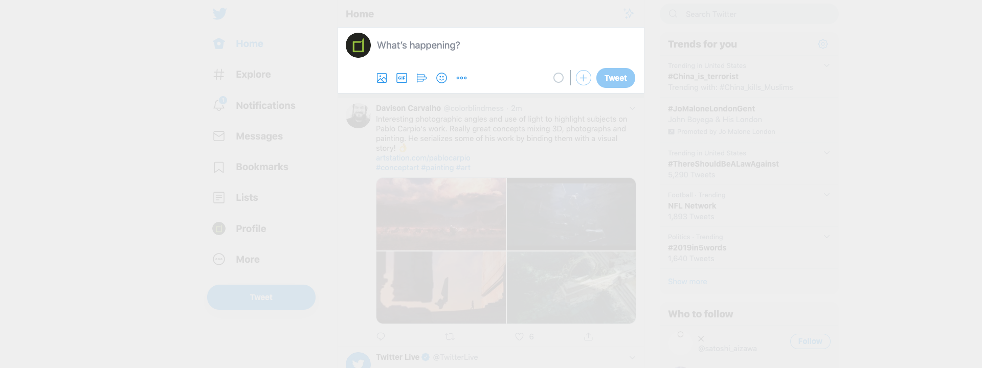 Tweet Box UI